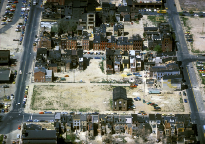 Alex MacLean, 'Blighted Housing Block Near Waterfront, Baltimore, Maryland,' From 'Deserting' series