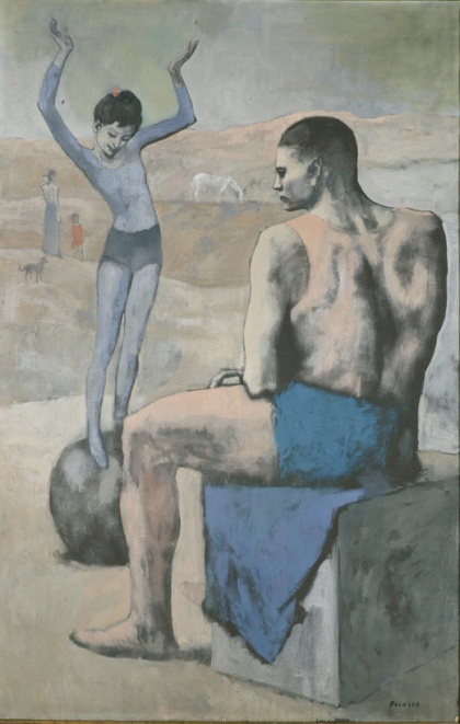 """L´Acrobate à la Boule,"" Pablo Picasso, 1905, Oil on canvas, 147 x 95 cm. ©The State Pushkin Museum of Fine Arts, Moscow. © Pablo Picasso Estate. VEGAP. Madrid, 2011"