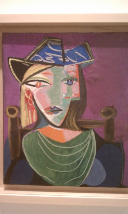 """Woman with a Green Collar,"" Pablo Picasso, 1938, oil on canvas (Museo Picasso Malaga, Malaga)"