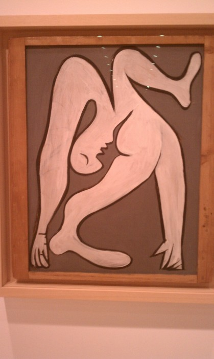 """Female Acrobat,"" Pablo Picasso, 1930, oil on panel (Museo Picasso Malaga, Malaga)"