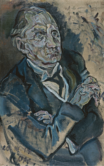 """Portrait of Max Schmidt,"" Oskar Kokoschka, 1914, Oil on canvas,  90 x 57.5 cm (Museo Thyssen-Bornemisza, Madrid)"