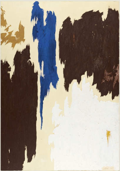 """Untitled,"" Clyfford Still, 1965, Oil on canvas, 254 x 176.5 cm (Museo Thyssen-Bornemisza, Madrid)"