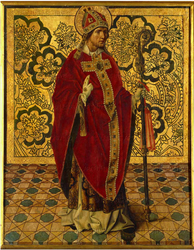 """Saint Gregory,"" Juan de Nalda, ca. 1505, tempera and oil on panel, 76 x 60 cm (Museo Nacional del Prado)"