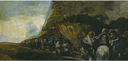 Pilgrimage to the Well of San Isidro, Francisco Goya, 1821-1823, mixed techniques on reclaimed canvas (Museo Nacional del Prado)