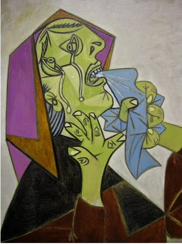 """Head of Crying Woman with Handkerchief (III),"" Pablo Picasso, 1937 (Museo Centro de Arte Reina Sofia, Madrid)"