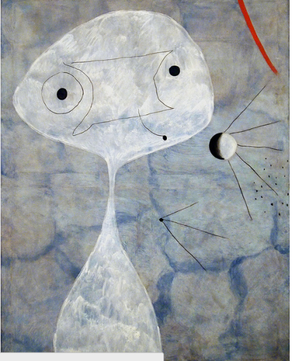 """Painting (Man with a Pipe),"" Joan Miro, 1925 (Museo Nacional del Arte Reina Sofia, Madrid)"