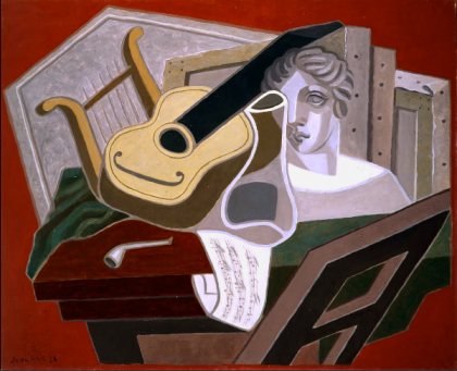 """Musician's Table,"" Juan Gris, 1926, oil on canvas (Nacional Museo del Arte Reina Sofia, Madrid)"