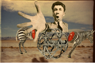 "Franz Falckenhaus, ""Big Player,"" 2011, mixed media digital collage (image courtesy of Saatchi Online)"